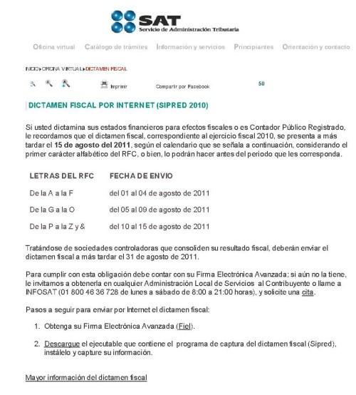 El sat publica fechas escalonadas opcionales para for Oficina virtual internet