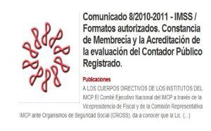 comunicado 8/2010-2011 IMCP